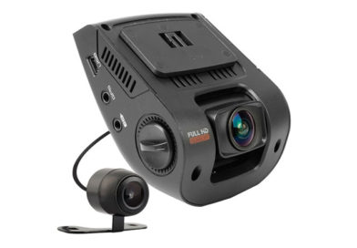 Rexing V1P 2.4″ LCD FHD 1080p 170 Degree Wide Angle Dual Channel Dashboard Camera Recorder Car Dash Cam with Rear Camera, G-Sensor, WDR, Loop Recording