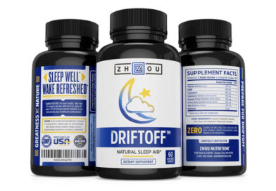 DRIFTOFF Natural Sleep Aid with Valerian Root & Melatonin – Sleep Well, Wake Refreshed