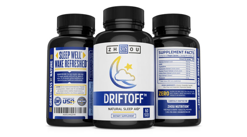 DRIFTOFF Natural Sleep Aid with Valerian Root & Melatonin – Sleep Well, Wake Refreshed