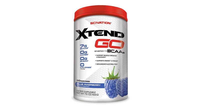 Scivation, Xtend GO Energy + BCAAs, Blue Raspberry, 30 Servings, Net Wt. 15.1